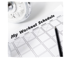 how to set a fitness schedule